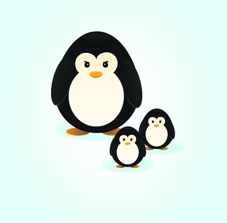 Penguin Family Illustration Stock Vector - 13758117