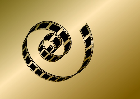 Gold Film Strip  Vector