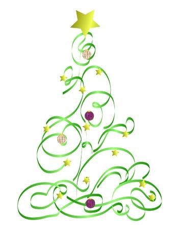 Abstract Christmas Tree Illustration