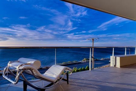 Mediterranean Style Home overlooking Ocean Stock Photo - 14348794