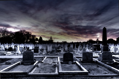 graves: Cemetery At Night