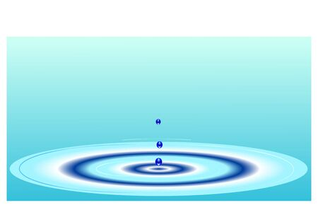 ripple effect: Water Ripple Effect Illustration