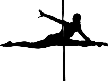 Pole Dancing Move Chopsticks Illustration