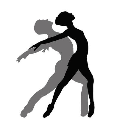 choreographic: Ballet Dancers Illustration Illustration