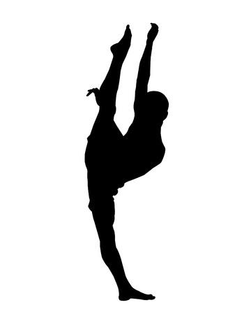 Comtemporary Dance Illustration Male Illustration
