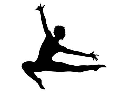 contempory: Contempory Dancing Illustration Female