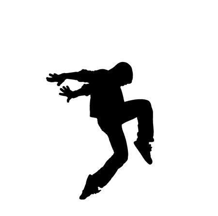 choreographic: Hip Hop Dance Illustration Male
