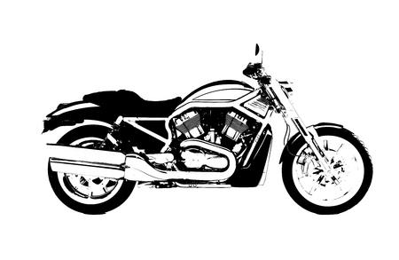 cruiser bike: Harley Motor Bike Illustration