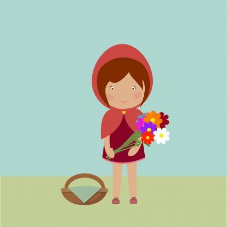 Red Riding Hood Illustration Illustration