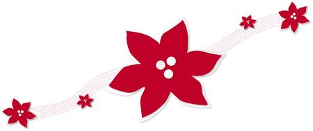 Red Flower Illustration Logo Illustration