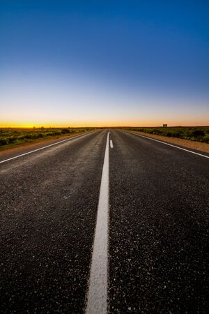 Country Highway at sunset