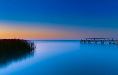 Sun setting over Lake Albert South Australia