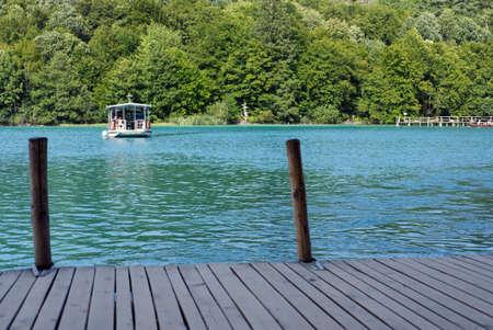 view on water in pltvcke national park in Croatia