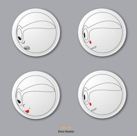 emo: Emo Vextor Icon Illustration
