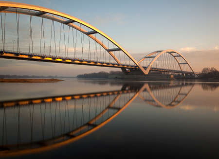 Brigde name Elizabeth Zawacka on Vistula River in Torun, Poland 2013