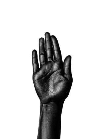 photo of a colored hand