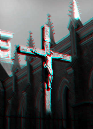 Cross with the crucifixion of Jesus.