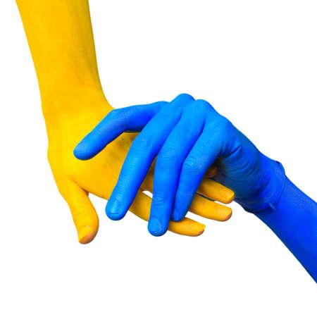 Bild von farbigen Händen in unterschiedlicher Pose
