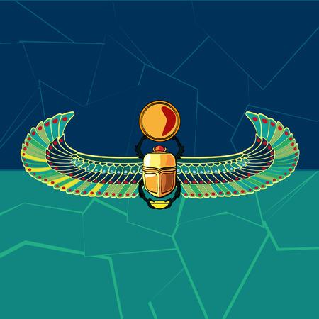 Scarabaeus vector illustration  Ilustração