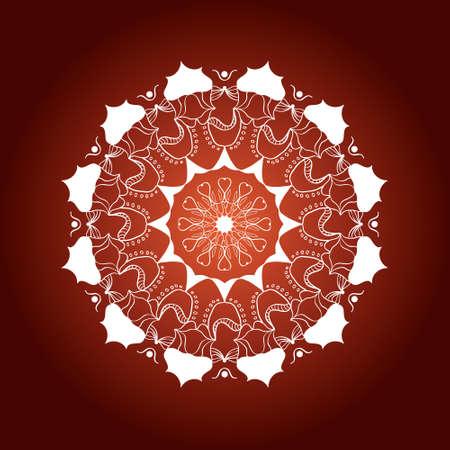 mandala with decorative elements.Card or invitation. Geometric circle element. Glowing mandala.