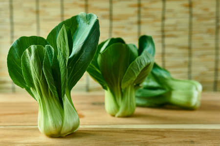 ps: Chinese cabbage on tray top view. Stock Photo