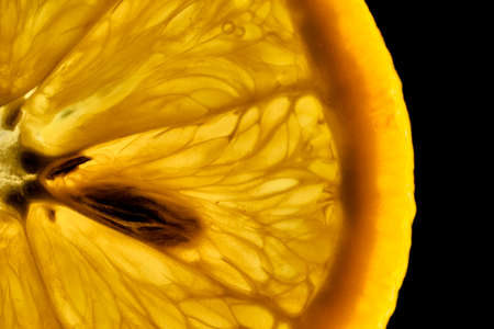 rentgen: extreme closeup of a fresh orange