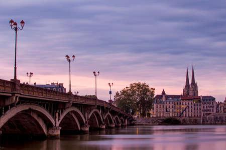 Walking around beautifull city Bayonne, France