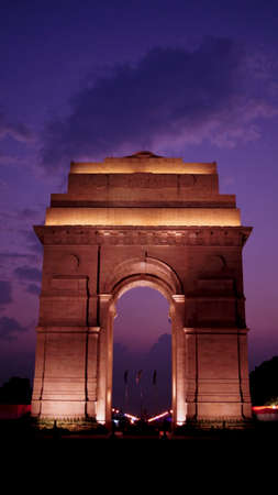 india gate: Charismatic night at India Gate, New Delhi