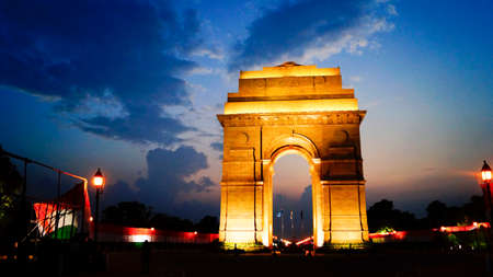 india gate: India gate at Night, Delhi