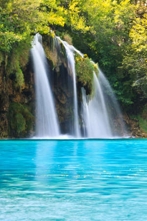 Plitvice Park Waterfall in Croatia photo