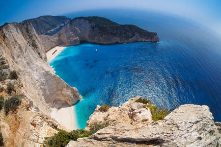 Navagio beach, Shipwreck, Zakynthos Greece Stock Photo