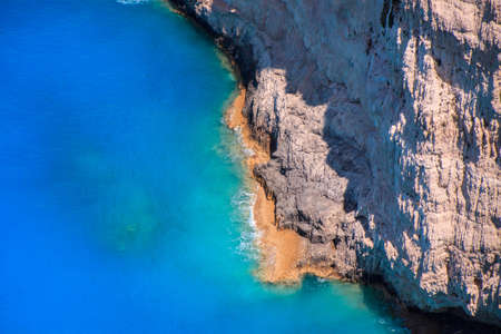 Beautifull cliffs near Navagio in Zakinthos island, Grece