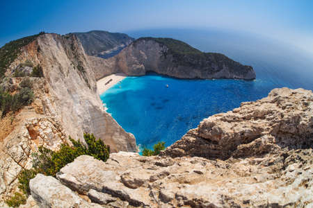 Navagio beach, Shipwreck, Zakynthos Greece photo