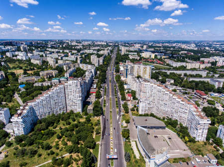 The City Gates of Chisinau, Republic of Moldova, Aerial view from drone