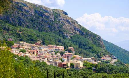 kerkyra: Traditional Greek village on the island of Corfu near Paleokastritsa. Corfu Island Kerkyra.