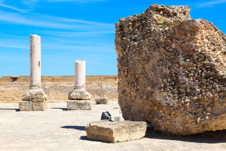 cartage: The old Roman empire ruins in Carthage - Tunisia