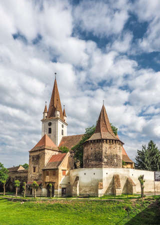 cristian: Fortified catholic church in Cristian Sibiu Romania heritage site and important touristic attraction Stock Photo
