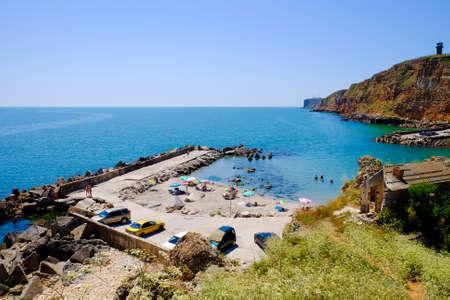 Bolata beach Bulgaria. Famous bay near Cape Kaliakra. Stock Photo