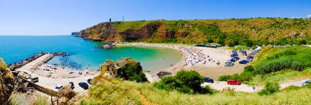 horison: Bolata beach Bulgaria. Panoramic image.