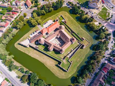 Top down view of Fagaras Fortress in Transylvania, Romania