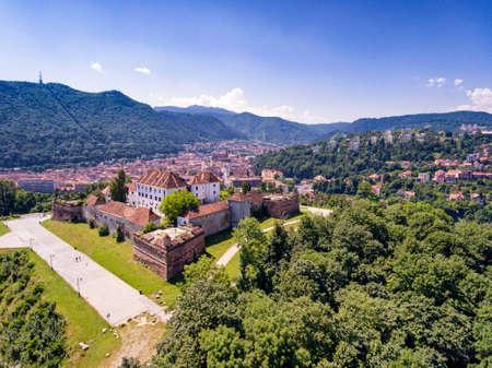 Brasov Transylvania Romania aerial view