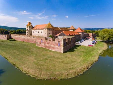 Fogarasch medieval fortress in the city of Fagaras Transylvania Romania Editorial