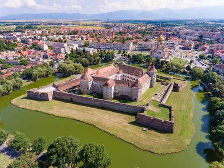 Fagaras Medieval Fortress in Fagaras City near Brasov Transylvania Romania