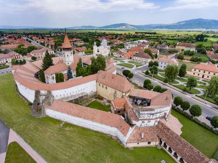 Prejmer Saxon Church, Transylvania, Romania Reklamní fotografie - 83371757