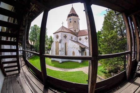 Prejmer fortified Church interior. 新聞圖片