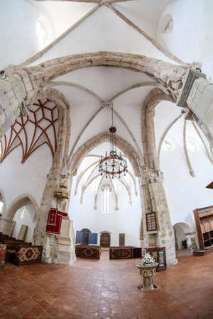 Interior of Prejmer fortified Church. UNESCO heritage site.