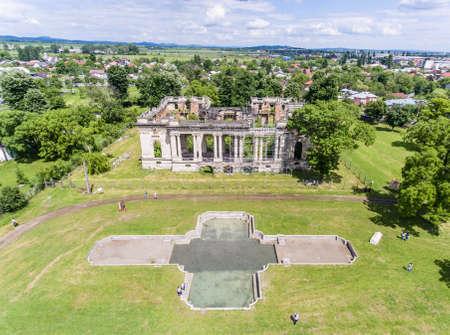 constantin: Little Trianon. Constantin Cantacuzino Palace in Floresti, Prahova,, Romania Stock Photo