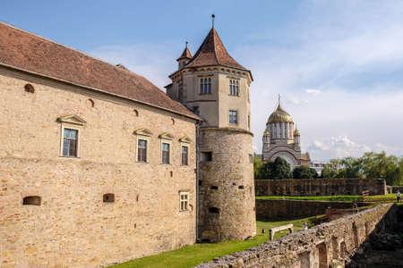 Fagaras Fortress near Brasov in Transylvania, Romania