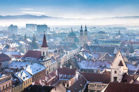 Morning in Sibiu, Romania in the heart of Transylvania. HDR Photography.