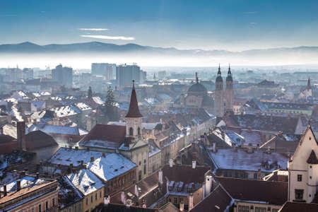 rumania: Morning in Sibiu,  Romania in the heart of Transylvania. HDR Photography.